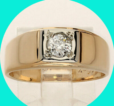 AU839 • Buy 40CT Diamond Solitaire Engagement Ring 14K 2 Tone Gold European Round 8MM 8.75