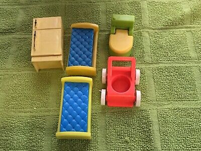Vintage Fisher Price Little People Furniture Pieces • 3.50£