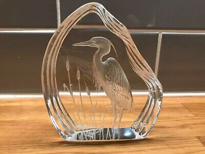 Capredoni By Darlington Crystal Paperweight Heron **** In Lovely Condition • 4.99£