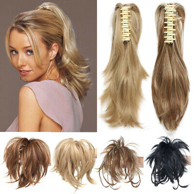 £10.99 • Buy Hair Piece Clamp Extensions Clip In Claw Instant Updo Layered Black Brown Blonde