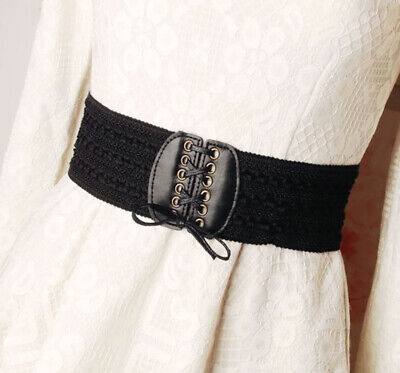 Womens Fashion Gold Pearl Double Ring Wide Narrow Leather Waist Dress Party Belt • 4.99£