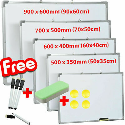 £33.95 • Buy Magnetic Whiteboard Small Large White Board Dry Wipe Notice Office School Home