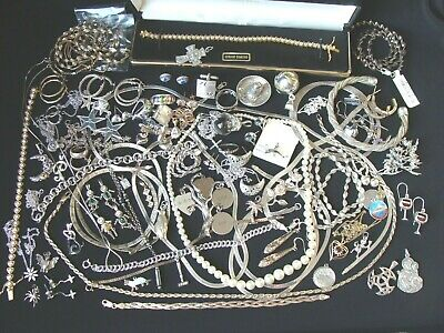 $ CDN43.75 • Buy Sterling Silver Jewelry Lot 1 Pound Vintage And Modern All Marked Sterling / 925