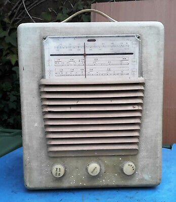 HMV 5323 Table Top Vintage Radio Record Player Radiogram (Untested) • 99.99£