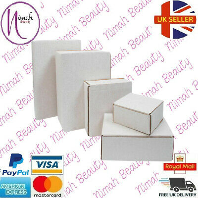 White Shipping Cardboard Boxes Postal Mailing Gift Packet Packing All Sizes • 12.99£