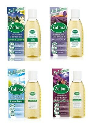 Zoflora Concentrated Anti Bacterial Disinfectant 120ml - CHOOSE SCENT • 4.99£