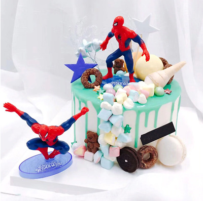 £5.99 • Buy 3D SPIDERMAN Cake Scene Birthday Decorations Toppers STAND UP Figure Decoration