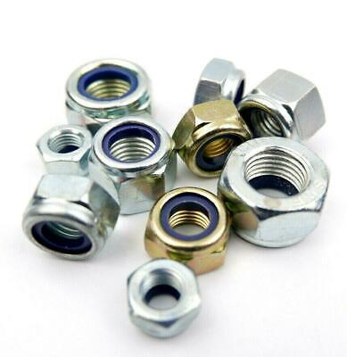 Metric Fine Extra Fine 10.9 Grade High Tensile Nyloc Nuts M8 To M24 Bright Zinc • 1.95£