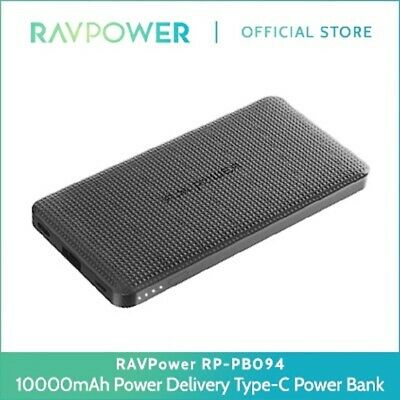 AU74.67 • Buy RAVPower 10000mAh Ultra-Thin 18W Power Delivery Type-C Quick Charge 3.0 RP-PB094