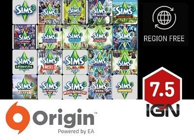 The Sims 3 - Expansions / Additional DLC  [PC & MAC] Origin Download Key • 3.99£