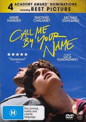 AU21.50 • Buy Call Me By Your Name (2017) DVD Timothee Chalamet-Armie Hammer-NEW