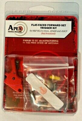 $166.20 • Buy Apex Tactical 100-153 Flat-Faced Forward Set Trigger Kit For The M&P M2.0 - Red