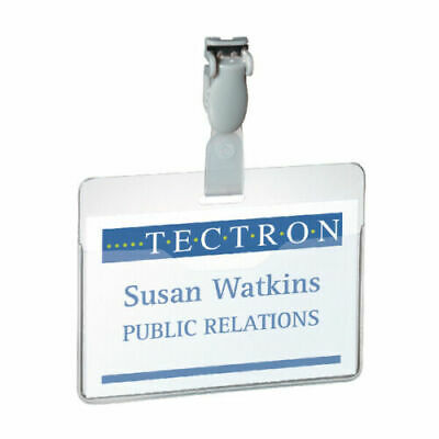 Durable Clear Visitor Name Badge 60x90mm (Pack Of 25) 8147/19 • 2.99£