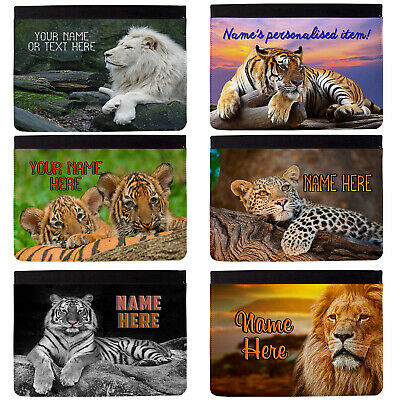 £18.95 • Buy Personalised IPad Case Big Cat Lion Tiger Apple Cover Initial Custom All Models