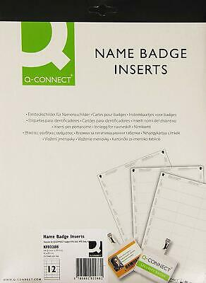 25 X Q Connect Visitor Name Badge Inserts Card Identity Name Badge 40x75mm • 6.99£