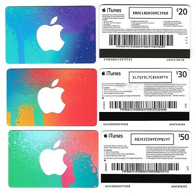 AU4 • Buy FOR COLLECTION ONLY - 3 X USED Australia APPLE ITunes Gift Cards SetA, NO CREDIT