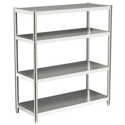 Commercial Storage Shelf Stainless Steel Kitchen 4Tiers Storage Shelving Racking • 139.14£