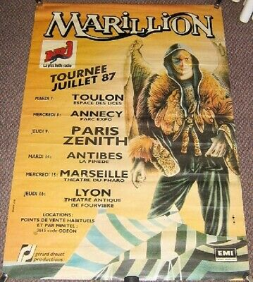 £125 • Buy Marillion Stunning Rare X 6 Date French Tour Poster 'tournee Juillet' In 1987
