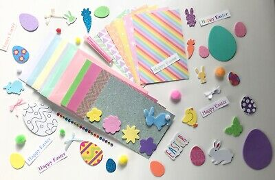 Children's EASTER Card Making Kit  6 X A6 Cards Easter  Kids Craft Kit • 6.99£
