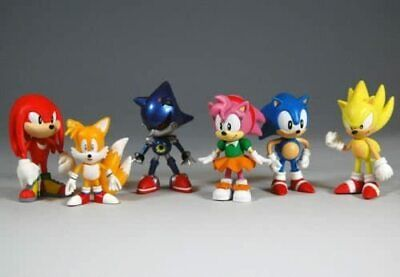 £8.95 • Buy 6 PCs Sonic The Hedgehog Knuckles Amy Tail Metal Action Figures Toy Cake Topper