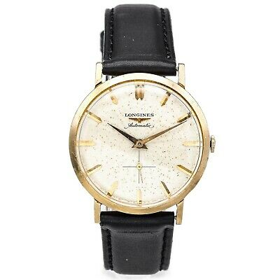 $ CDN1.38 • Buy Vintage Longines Men's Automatic Watch Leather Strap 32.5 Mm