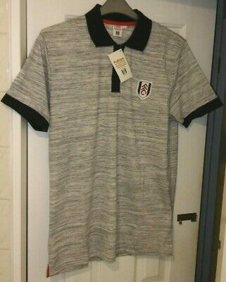 £17.95 • Buy Fulham Football Club Official Supporters Grey Marl Polo Shirt.  Size Large. BNWT