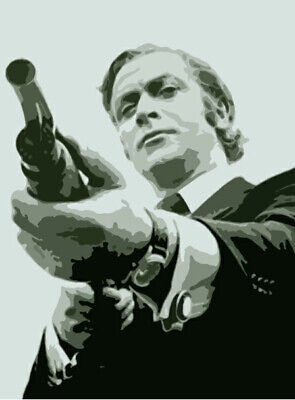 Get Carter 60s Michael Caine Action Movie Iron On T-Shirt Transfer A5 • 2.29£