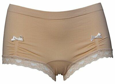 Shorts Briefs Lace Trim Comfortable Feminine Sissy Blue Beige Yellow Pink Black • 2.99£