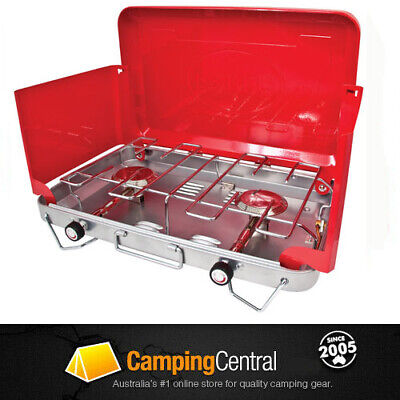 AU79.95 • Buy PRIMUS 2 Burner Gas Camping Camp Portable Stove Cooker Oztrail