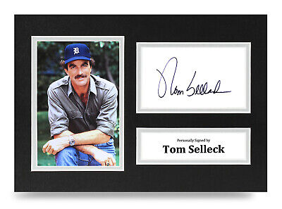 Tom Selleck Signed A4 Photo Display Magnum P.I. Autograph Memorabilia + COA • 8£