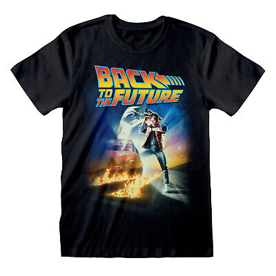 £13.99 • Buy Back To The Future Poster T Shirt OFFICIAL Marty McFly Doc Brown Movie DeLorean