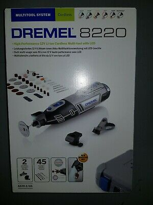 Dremel 8220-2 45 Piece 12V Li-Ion Multi-Tool Kit 1 X 2.0Ah • 115£