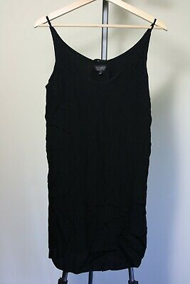 Topshop Black Size 8 Shift/cami Dress Perfect For Summer • 3.99£