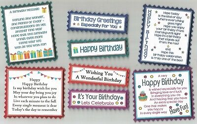 £1.60 • Buy 4 DARK HAPPY BIRTHDAY Greeting Card Craft Verse Toppers W/WO Sentiments