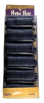 AU7.71 • Buy Hype Hair Black Satin Foam Rollers Curlers For Women Of Color 12 Pack New