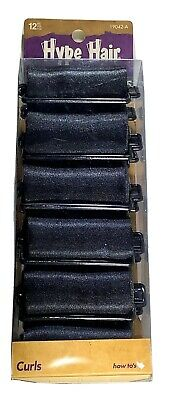 AU6.96 • Buy Hype Hair Black Satin Foam Rollers Curlers For Women Of Color 12 Pack New
