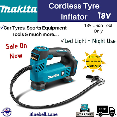 AU156.45 • Buy Makita DMP180Z 18V Li-ion Cordless Tyre Inflator Pump LED Job Light Tool Only