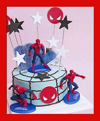 £7.89 • Buy SPIDERMAN Cake Scene Birthday Decorations Toppers STAND UP Figure Decoration