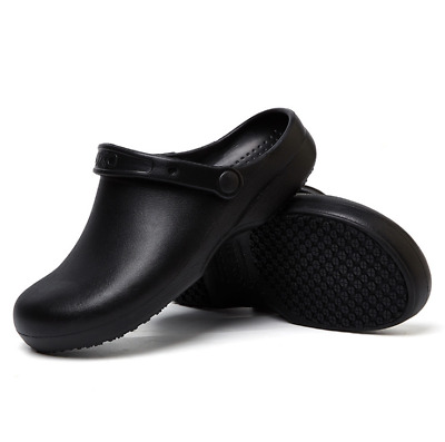 £22.97 • Buy Non-slip Chef Shoes Mens Womens Kitchen Safety Shoes Slippers Slip On Work Boots