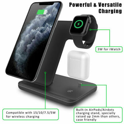 AU39.63 • Buy 3 In 1 Wireless Charger Dock Holder Station For IWatch IPhone 8 11 Pro Max XS