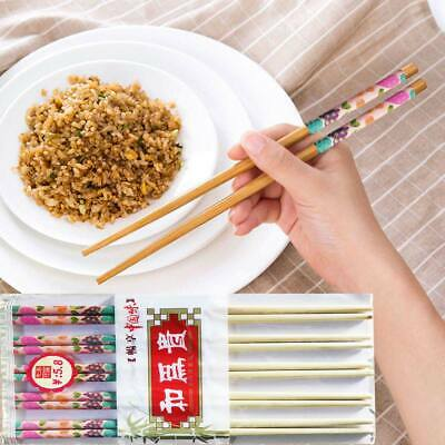 10 Pairs Chinese Chopsticks Wooden Bamboo Traditional Japanese Wood Chopsticks • 1.79£