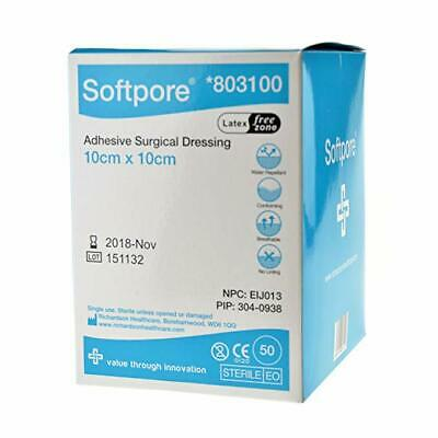 £3.57 • Buy 10cm X 10cm - Softpore Adhesive Sterile Dressings - Plasters Cuts & Wounds