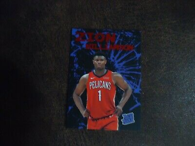 $3.99 • Buy Zion Williamson RED FOIL Card New Orleans Pelicans Cracked Glass Rookie