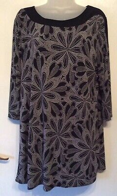 £8.99 • Buy Forever By Michael Gold Black Mix Longer Length Top Size XL