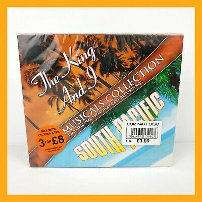 The King & I South Pacific Musicals Collection Double Cd Vintage Retro Old Rare  • 3.99£