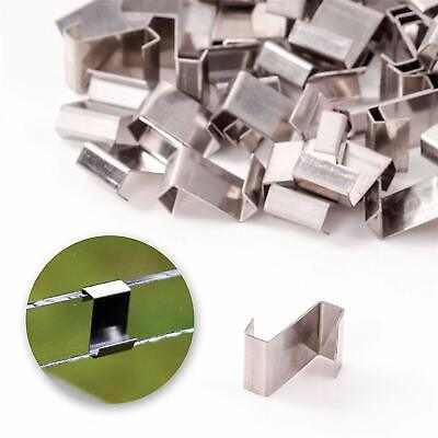 50 PACK GREENHOUSE GLAZING CLIPS Strong Panel Fixing Z Type Stainless Steel Set • 3.99£