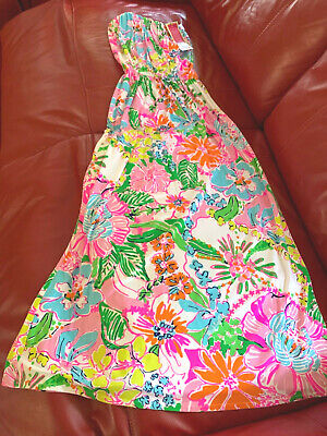 $49.99 • Buy Lilly Pulitzer For Target Nwt Medium Nosey Posey Maxi Dress New Strapless Floral