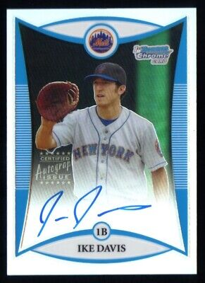 $6.50 • Buy 2008 IKE DAVIS Bowman Chrome Signed Refractor Autograph Rookie Auto RC /500 Mets