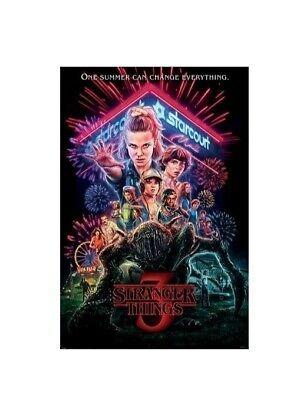AU12.99 • Buy Stranger Things Summer Of 85 Rolled Poster Print  Wall Hanging Slot #16