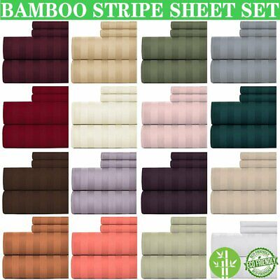 AU29.99 • Buy 1800TC Bamboo Blend Sheet Set Fitted Flat Pillowcase Ultra Soft Bedding All Size